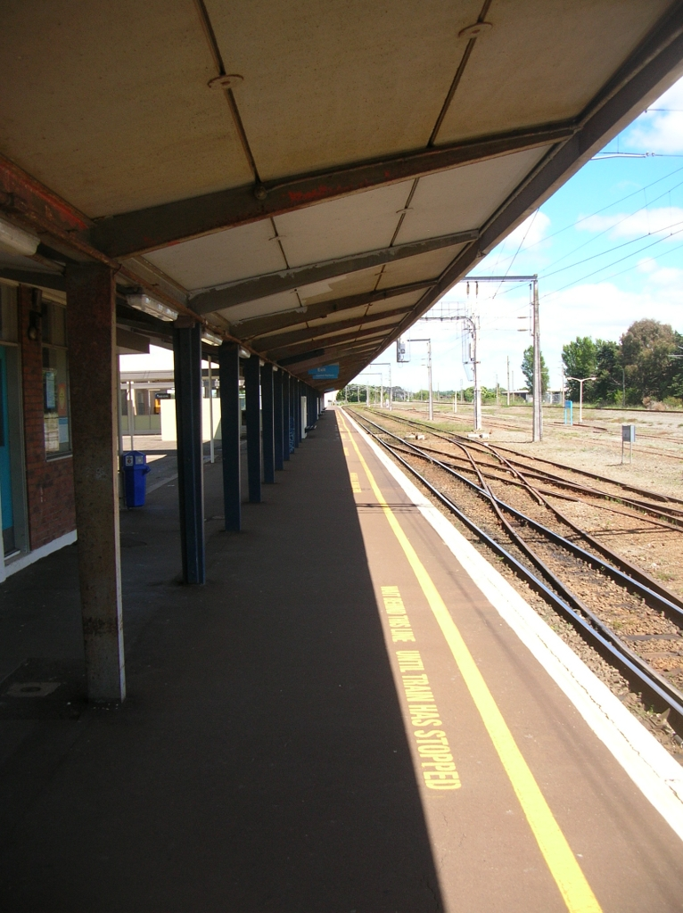 Palmerston North Railway Station. Hier halten zwei Züge am Tag.
