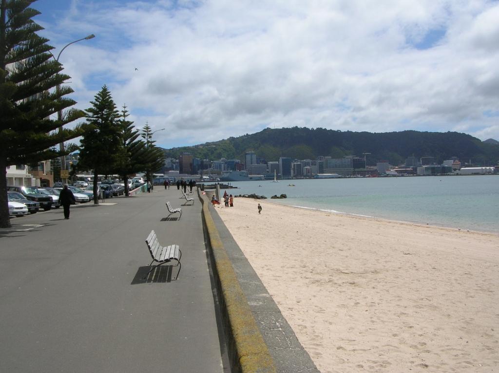 Der Strand Wellingtons, der Oriental Beach.