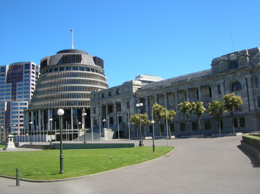 Das Parlament Neuseelands.